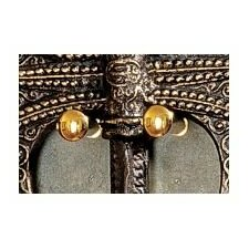Decorative Brass Axe / Sword Hanger (Set of 2)
