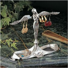Art Nouveau Angel-in-Waiting Italian Pewter Jewelry Holder