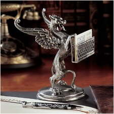 <strong>Design Toscano</strong> Gryphon Solid Pewter Card Holder
