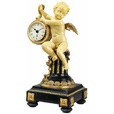 <strong>Design Toscano</strong> Chateau Colville Neoclassical Cherub Table Clock