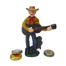 Cactus Pete the Cowboy Cast Iron Bottle Opener