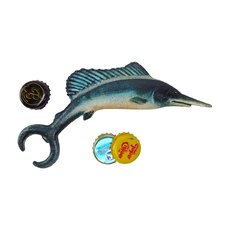 Marlin Fish Cast Iron Bottle Opener