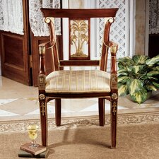 British Colonial Plantation Fabric Arm Chair