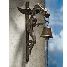 Florentine Dragon Gothic Iron Doorbell (Set of 2)