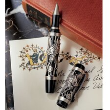 Twin Dragons Sculptural Pewter Pen