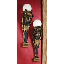 Egyptian 1 Light Royalty Illuminated Wall Sculptures