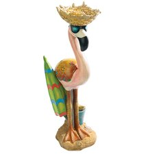Luau Larry the Flamingo Garden Statue