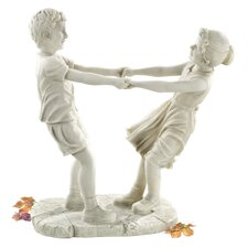 <strong>Design Toscano</strong> Little Girl and Boy Dancing Garden Statue