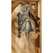 <strong>Design Toscano</strong> Dragon of Murdock Manor Gothic Iron Bell (Set of 2)