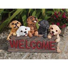 The Puppy Parade Garden Sign