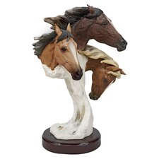 Racing the Wind Wild Horse by Samuel Lightfoot Large Statue