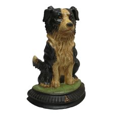 Border Collie Dog Doorstop Statue