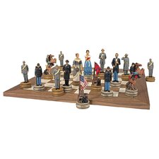 Civil War Sculptural Chess Set