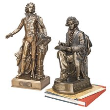 The Great Composers Mozart and Beethoven Statue (Set of 2)