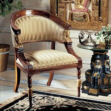 Egyptian Revival Fabric Arm Chair