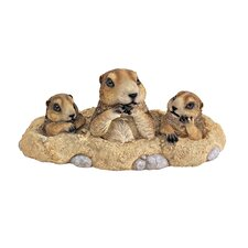 Burrowing Buddies Garden Gophers Statue