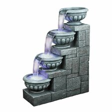 Resin Four Step Bowls Fountain