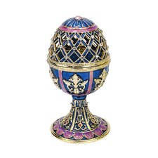 <strong>Design Toscano</strong> Jeweled Trellis Faberge - Style Enameled Egg