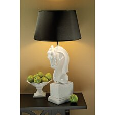 """Knightly Horse Bust 32"""" H Table Lamp with Empire Shade"""
