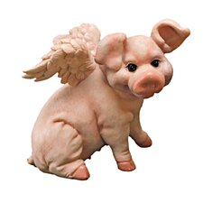 Hog Heaven Flying Pig Sitting Statue
