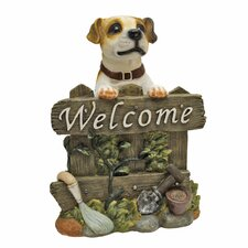 <strong>Design Toscano</strong> Jack Russell Terrier Dog Welcome Statue