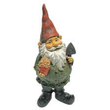 Dagobert with Gifts Garden Gnome Statue