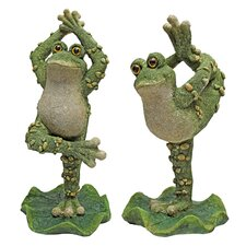 Boogie Down, Dancing Frog Statue (Set of 2)