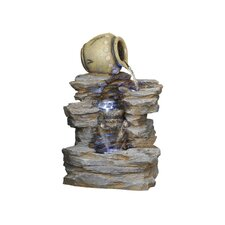 Spilling Jug Resin Cascading Fountain