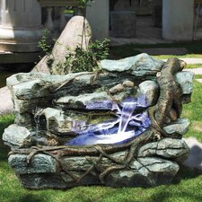 Resin Rocks and Branch Horizontal Fountain