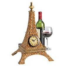 Tour Eiffel Sculptural Metal Table Clock