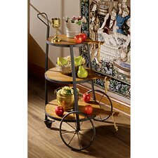 Bakers Dozen Rolling Cart Side Table