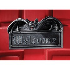 Vampire Bat Welcome Wall Sculpture (Set of 2)