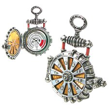 EER Patent Solar Powered Turbine Steampunk Fob Watch