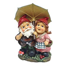 <strong>Design Toscano</strong> Rainy Day Gnomes Under an Umbrella Garden Statue
