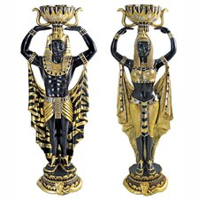 2 Piece Cleopatra's Nubian Servants Large-Scale Statue Set