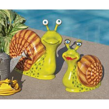 <strong>Design Toscano</strong> Enormous Snail Garden Statue (Set of 2)