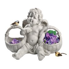 Basket of Treats Cherub Statue