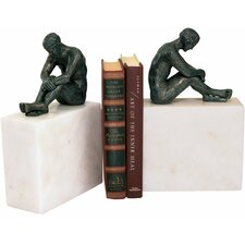 Contemplation of Man Book Ends (Set of 2)
