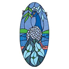 Majestic Peacock Stained Glass Window