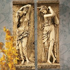 <strong>Design Toscano</strong> Water Maidens Dordogne and Seine Wall Décor Set
