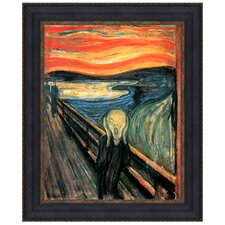 The Scream, 1893, by Edvard Munch Framed Painting Print
