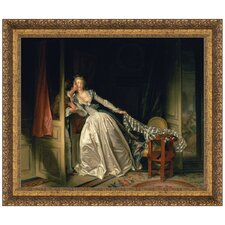 The Stolen Kiss, c. 1788 by Jean-Honore Fragonard Framed Painting Print