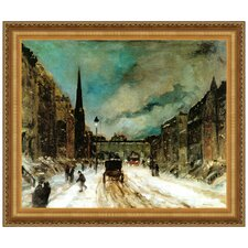 Street Scene with Snow, 1902 by Robert Henri Framed Painting Print