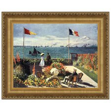 The Terrace at Sainte-Adresse, 1867 by Claude Monet Framed Painting Print