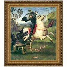 Saint George Fighting the Dragon, 1505 by Raffaello Sanzio Framed Painting Print