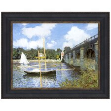 The Bridge at Argenteuil, 1874 by Claude-Oscar Monet Framed Painting Print