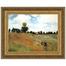 Poppy Field, 1873 by Claude Monet Framed Painting Print