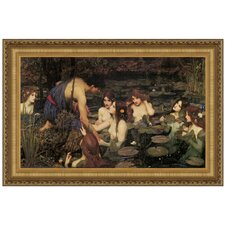 Hylas and the Nymphs, 1896 by John William Waterhouse Framed Painting Print
