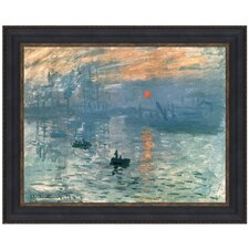 Impression Sunrise, 1872 by Claude-Oscar Monet Framed Painting Print