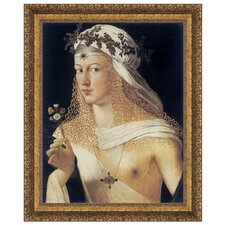 Idealized Portrait of a Courtesan as Flora, Goddess of Spring, 1506 by Bartolmeo Veneto Framed Painting Print